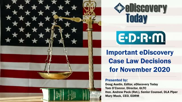 Important eDiscovery Case Law Decisions for November 2020