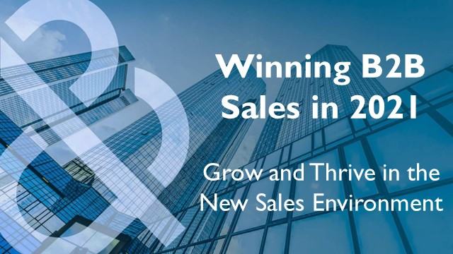 Adapting & Succeeding in the Changing Sales Environment