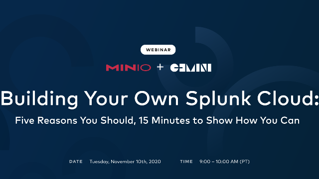 Building Your Own Splunk Cloud: 5 Reasons You Should, 15 Minutes to Show You How