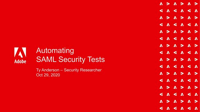 Automating SAML Security Tests
