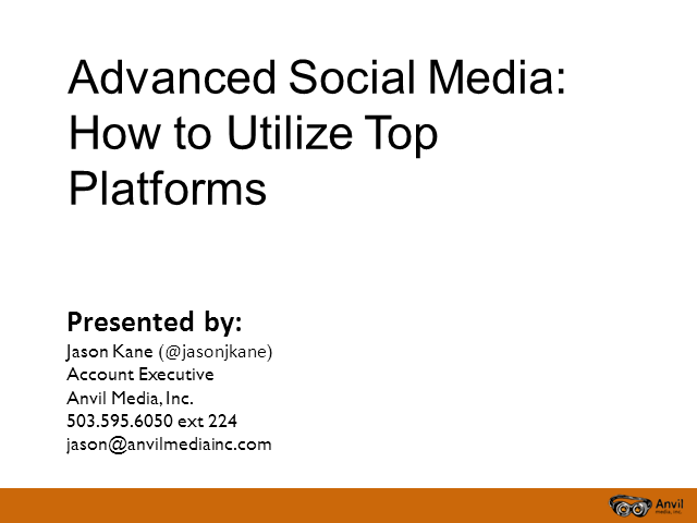 Advanced Social Media - How to Utilize Top Platforms
