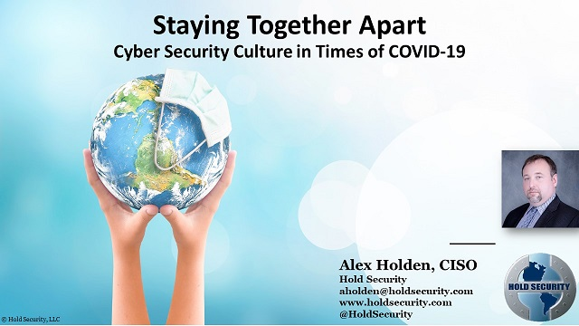 Staying Together Apart – Cyber Security Culture in Times of COVID-19