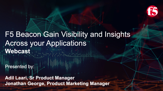 F5 Beacon: Comprehensive Visibility and Analytics