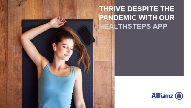 Thrive despite the pandemic with the Allianz Health Steps app