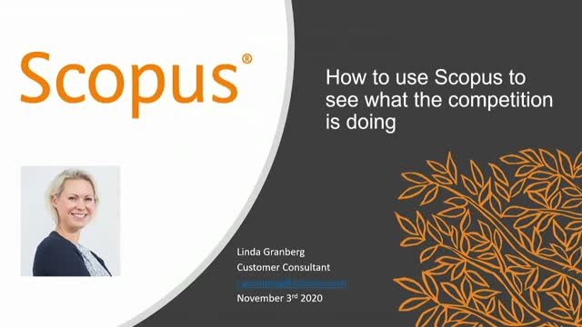 How to use Scopus to see what the competition is doing