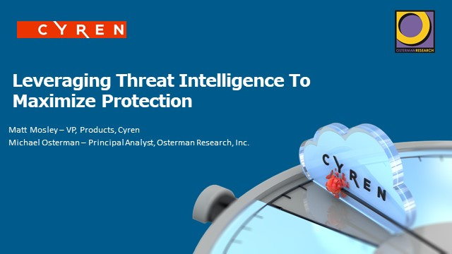Leveraging Threat Intelligence to Maximize Protection