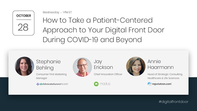 Taking a Human-Centered Approach to Your Digital Front Door During COVID-19