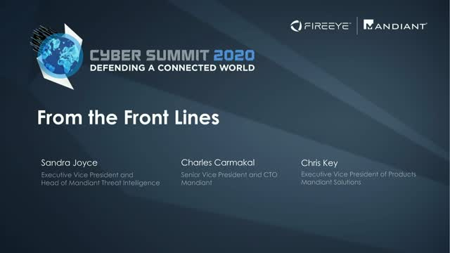 Cyber Summit 2020 | From the Front Lines