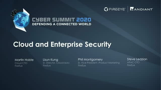 Cyber Summit 2020 | Cloud and Enterprise Security