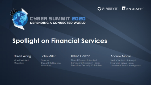 Cyber Summit 2020 | Spotlight on Financial Services