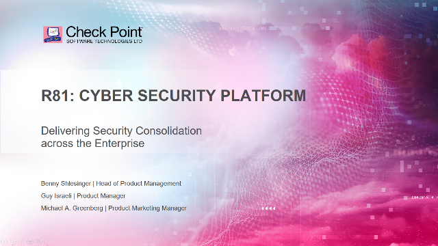 Delivering Security Consolidation Across the Enterprise
