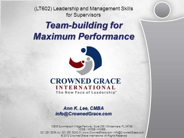 Team Building For Maximum Performance