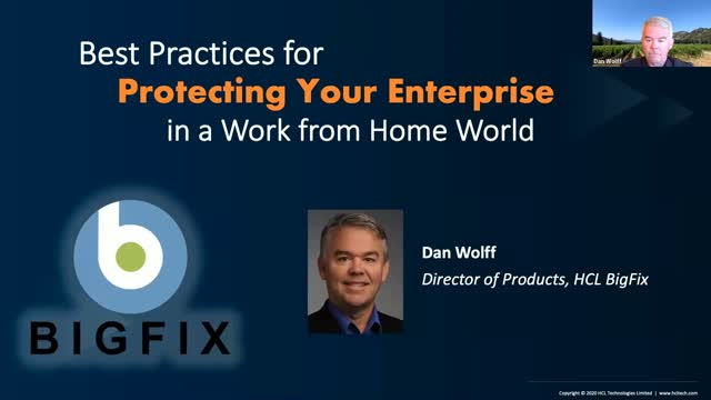 Best Practices for Protecting Your Enterprise in a Work from Home World