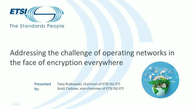 The challenge of operating networks with encryption everywhere