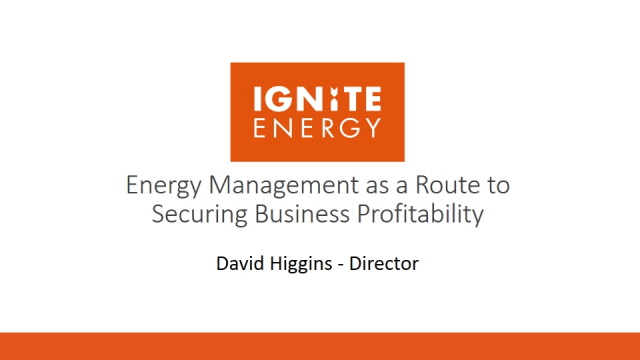 Energy management as a route to securing business profitability