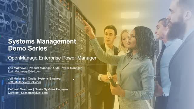 OpenManage Enterprise Power Manager Demo and Q&A