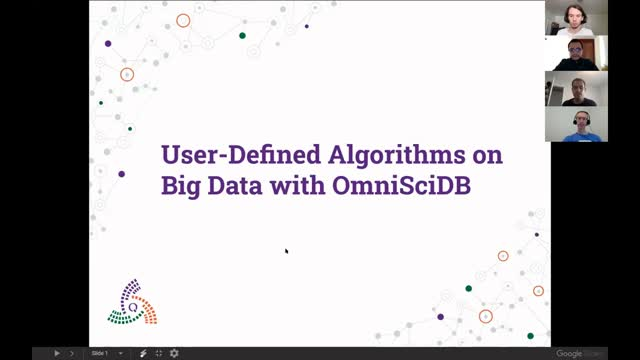 User-Defined Algorithms on Big Data with OmniSci