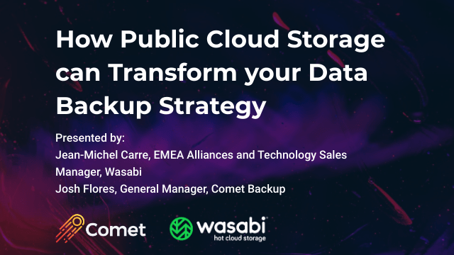 How Public Cloud Storage can Transform your Data Backup Strategy