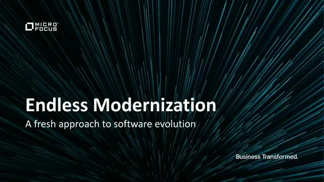 Endless Modernization: A fresh approach to software evolution