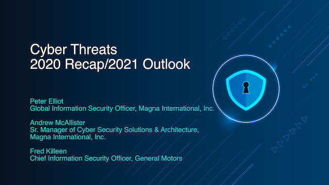 Cyber Threats – 2020 Recap/2021 Outlook