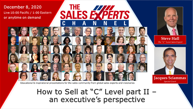 "How to Sell at ""C"" Level part II – an executive's perspective"