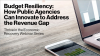 Budget Resiliency: How Public Agencies can Innovate to Address the Revenue Gap