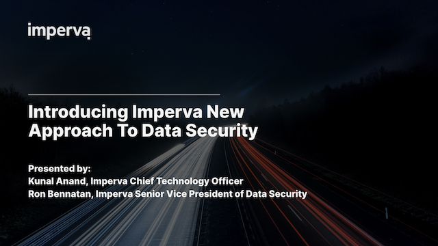 Introducing Imperva's new approach to data security