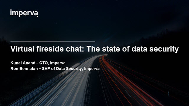 Virtual fireside chat: The state of data security
