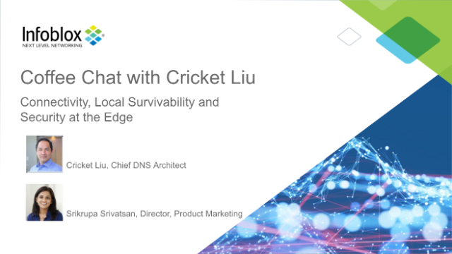 Coffee Chat w/ Cricket: Connectivity, Local Survivability & Security at the Edge