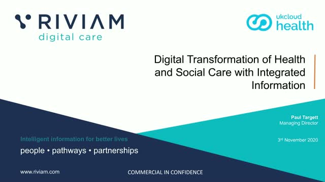 Digital transformation of health and social care with integrated information