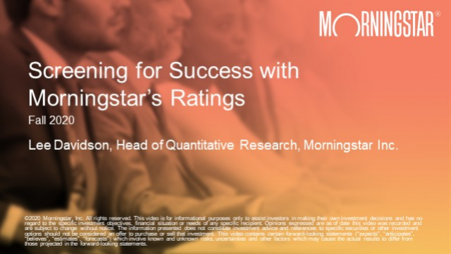 Screening for Success with Morningstar's Ratings