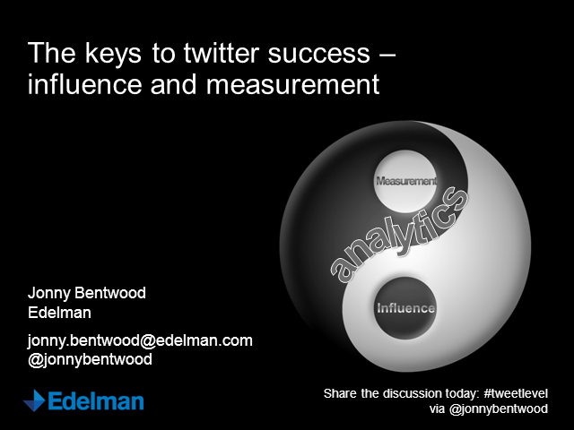 The Keys to Twitter Success – Influence and Measurement