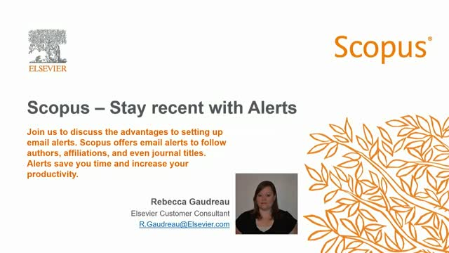 Scopus: Stay recent with Alerts