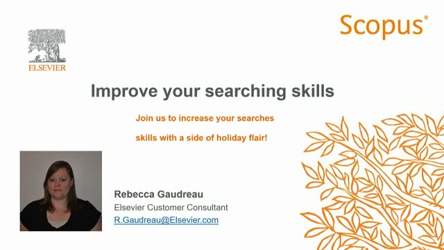 Scopus - Improve your searching skills
