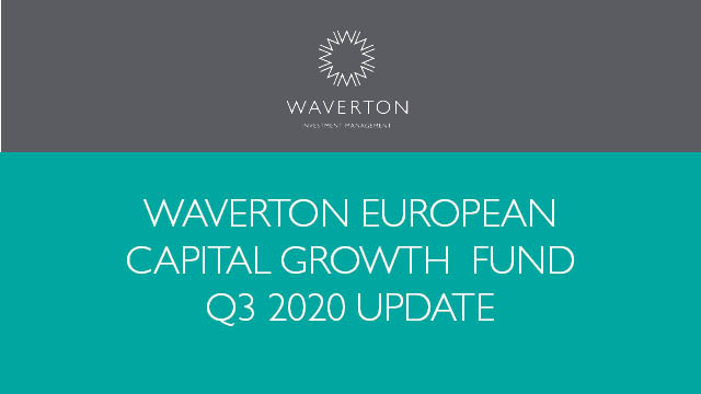 Waverton European Capital Growth Fund Update Q3 2020