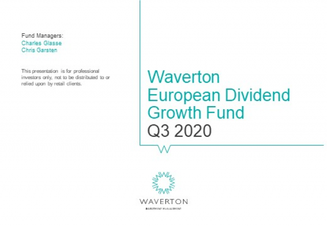 Waverton European Dividend Growth Fund Update Q3 2020