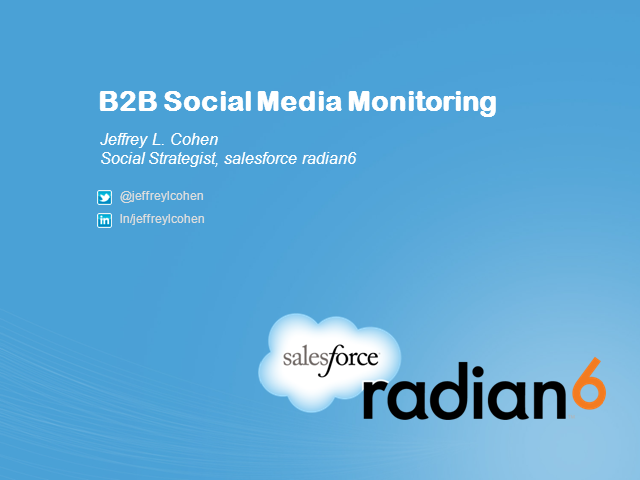 Social Media Monitoring for B2B Companies