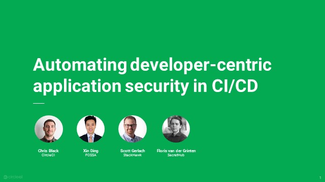 Automating developer-centric application security in CI/CD