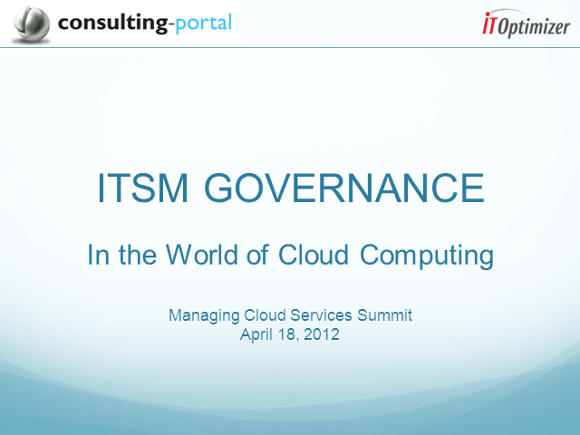 ITSM Governance in the World of Cloud Computing