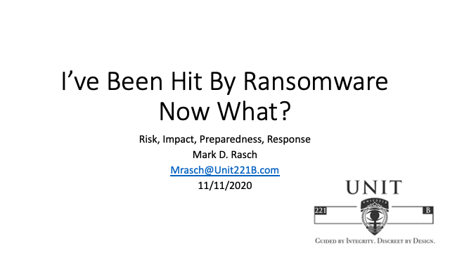 I've Been Hit By Ransomware: Now What?