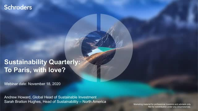 Schroders Sustainability Quarterly: Dear Paris, with love?