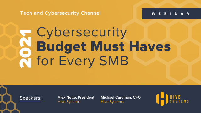 2021 Cybersecurity Budget Must Haves for Every SMB