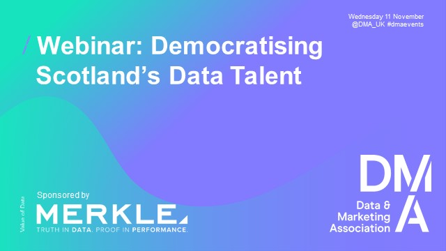 Webinar: Democratising Scotland's Data Talent