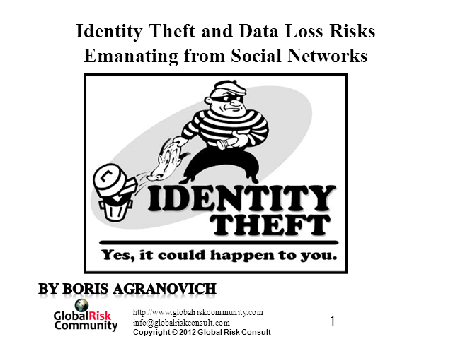 Identity Theft and Personal Data Loss Risks Emanating from Social Networks