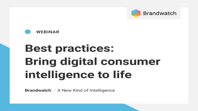 Best practices: Bring digital consumer intelligence to life