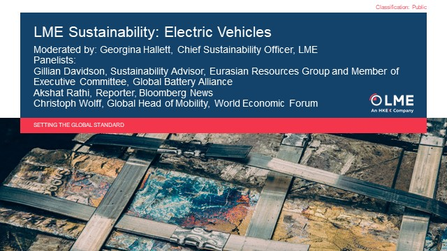 LME Sustainability: Electric Vehicles