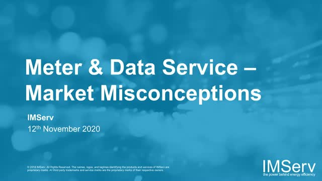 Metering and Data Services – Market Misconceptions