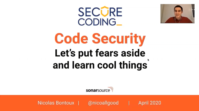 Code Security: Let's Put Fears Aside and Learn Cool Things