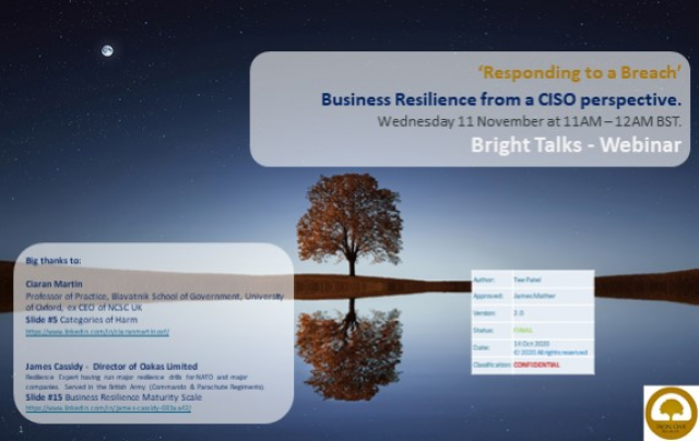 Responding to a Breach - Business Resilience from a CISO perspective