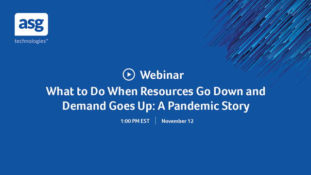 What to Do When Resources Go Down and Demand Goes Up: A Pandemic Story
